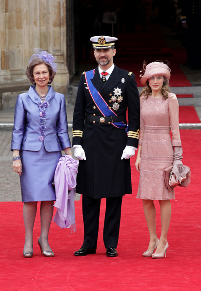 Crown Princess MarieChantel of Greece wore a beautiful pearl grey dress
