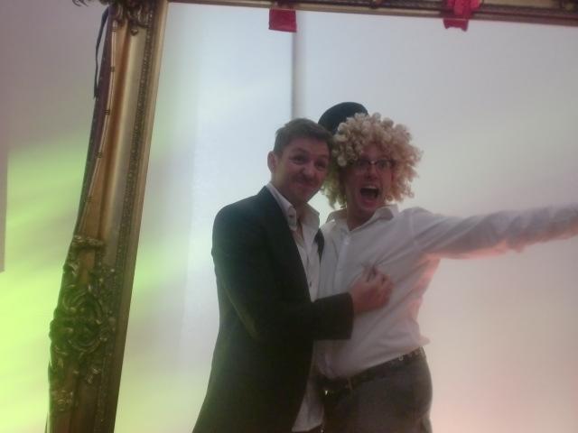 Pete Stridgen gets into the party mood!