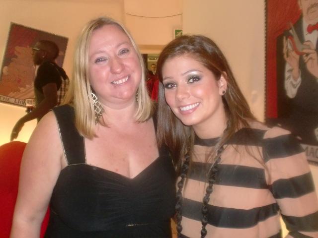 with Nicki Sanderson