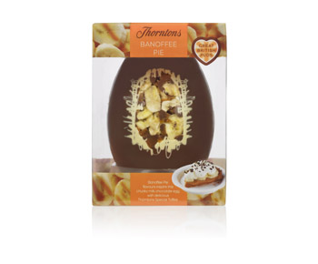 Banoffee Pie Easter Egg (430g) £14.99 click to visit Thorntons
