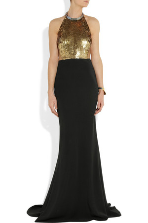 ALEXANDER MCQUEEN Embellished halterneck gown £3,295.00 click to visit Selfridges