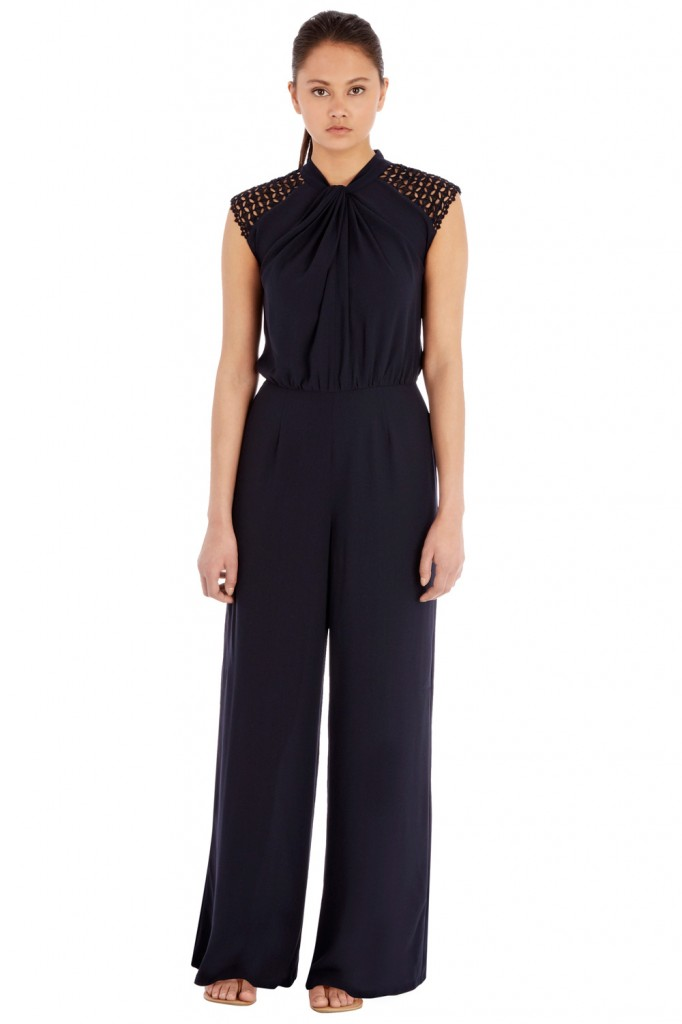 TWIST NECK JUMPSUIT Price: £80.00 click to visit Warehouse