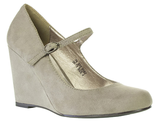 Barratts Mary Jane Wedge Court Shoes £26.75 Click to visit Barratts