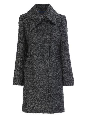 Grey/black Textured Collar Coat     Price: £65.00 CLICK to visit BHS