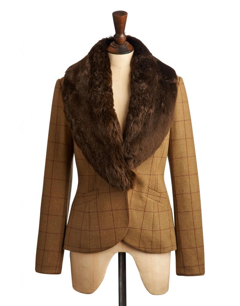 LARKWORTH FUR Womens Tweed Coat - Fur Collar £199.00 click to visit Joules