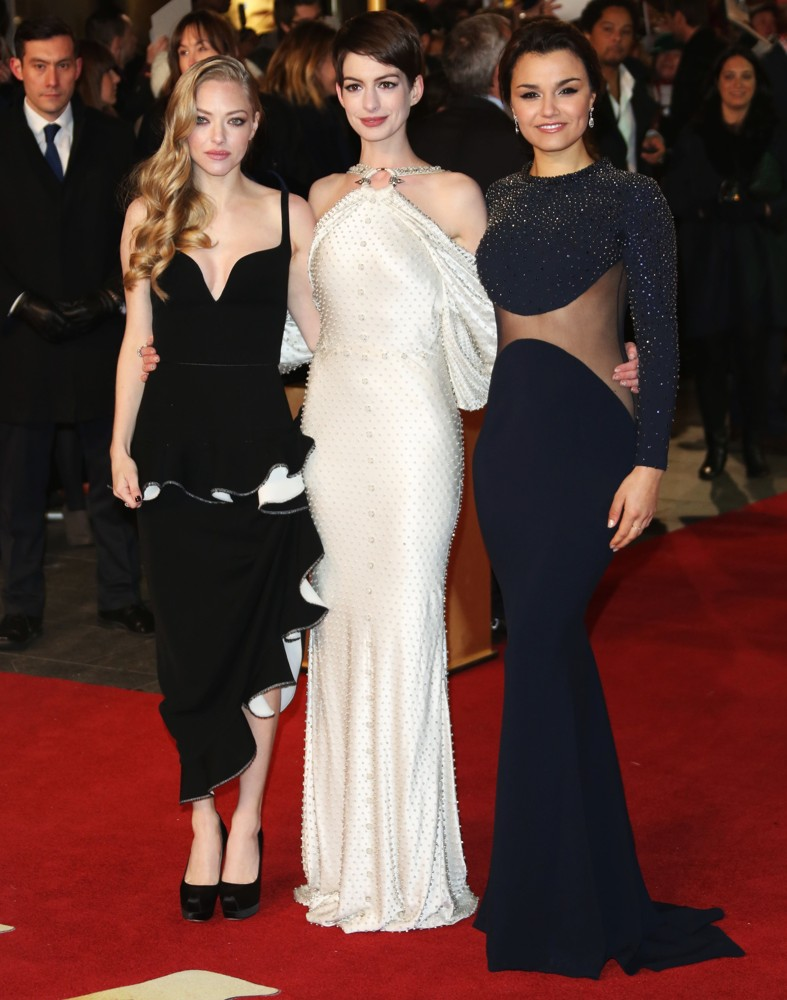 With Co-Stars Amanda Seyfried and Anne Hathaway