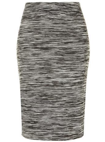 Evans Black Marl Midi Bodycon Tube Skirt     Price: £18.00 click to visit Evans