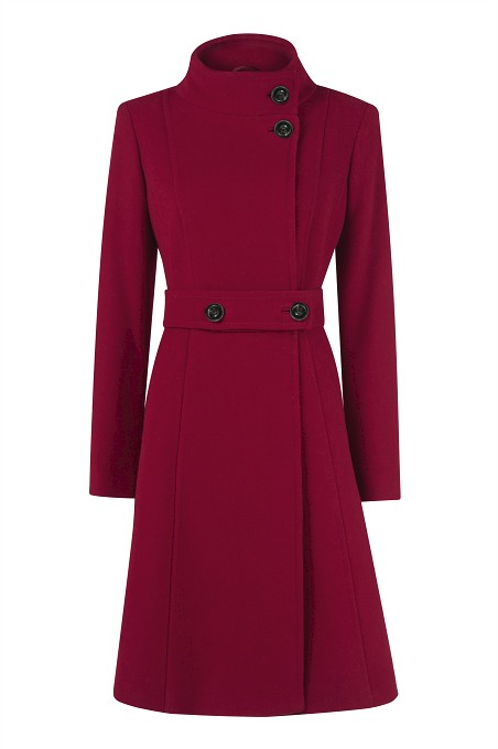 Berry Full Skirt Wool Coat Item No 060/031235/41 / Was £249.00 Now £199.00  click to visit Kaliko
