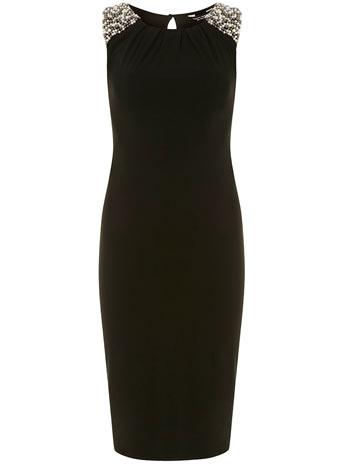 Black embellished dress     Was £28.00     Now £25.20 click to visit Dorothy Perkins