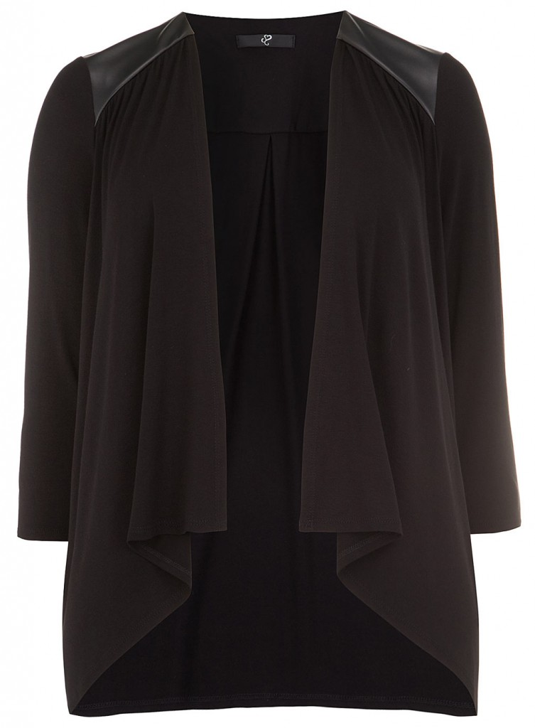 Evans Black PU Trim Cover Up     Was £29.50     Now £15.00 click to visit Evans
