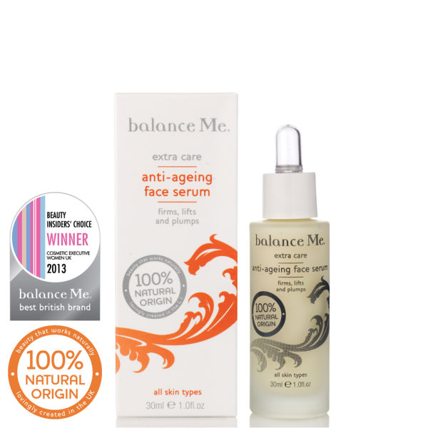 Balance Me Anti-ageing face serum 30ml £36 click to visit Debenhams