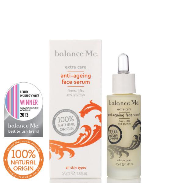Balance Me Anti-ageing face serum 30ml £36 click to visit Debenhams