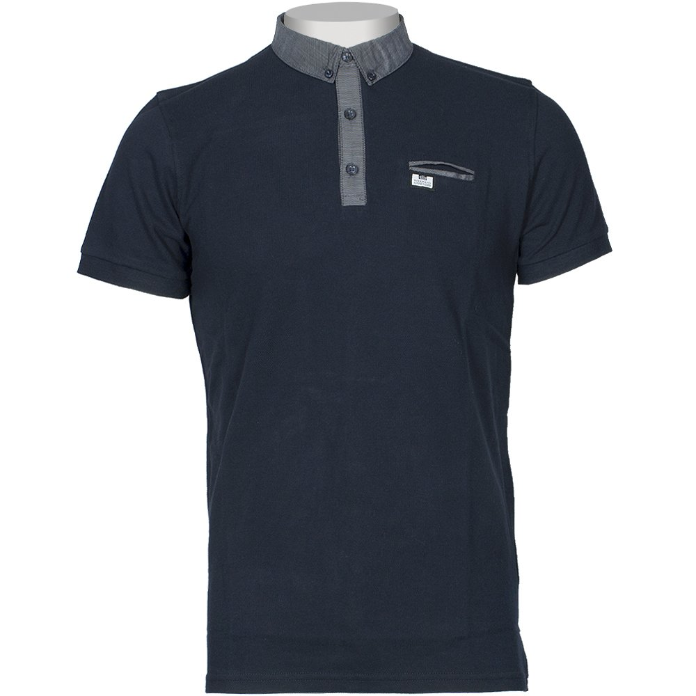 WEEKEND OFFENDER Weekend Offender Woven Contrast Polo Shirt Navy £54.95 click to visit Infinities