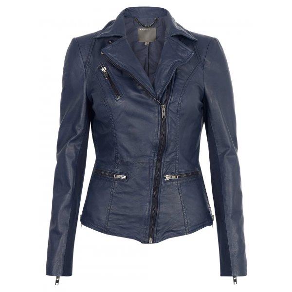 Muubaa Sirius Leather Biker Jacket in Ink £350 click to visit Muubaa