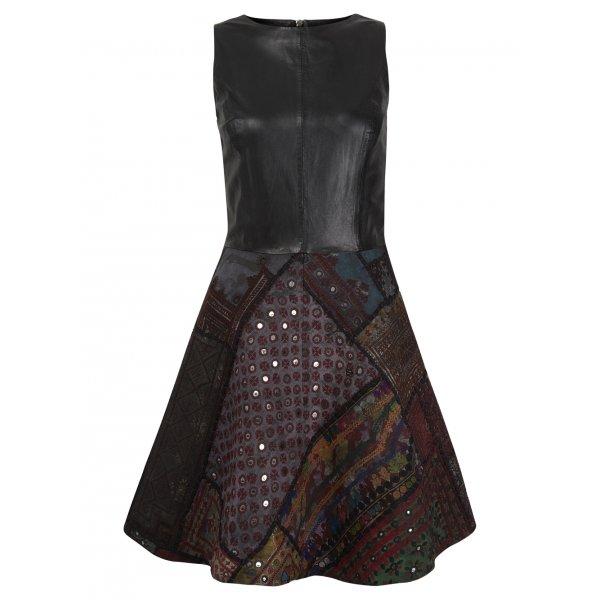 Muubaa Kashi Leather Rilli Dress in Black £400 click to visit Muubaa