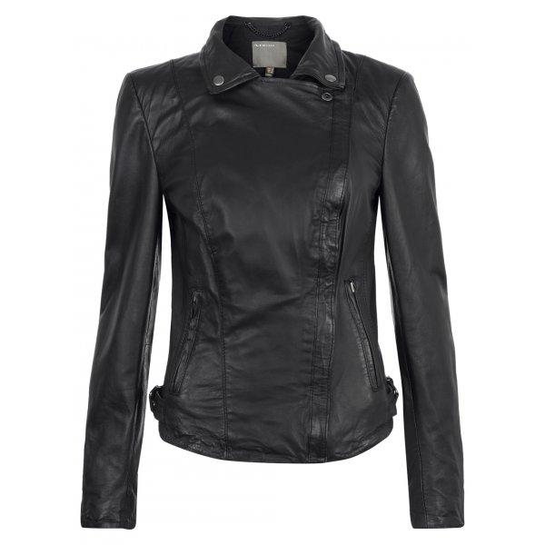 Muubaa Pola Leather Moto Jacket in Black £350 click to visit Muubaa