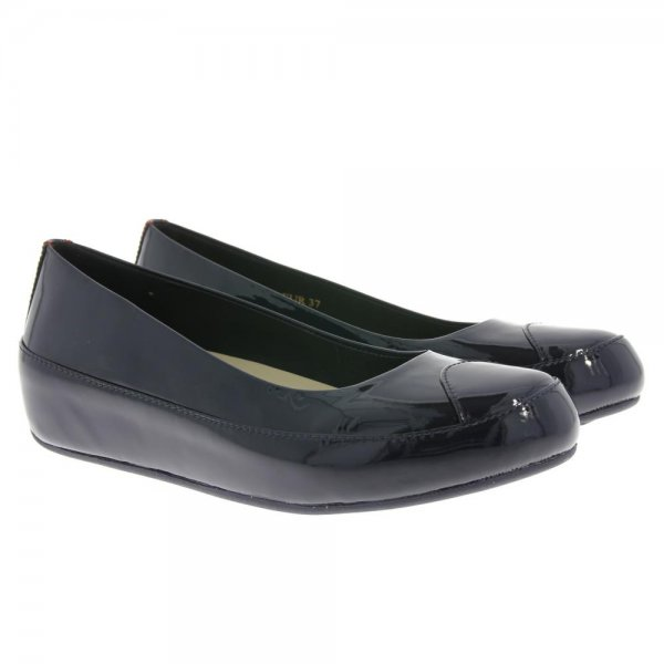 FitFlop Shoes Due Patent Inky Blue Now From £49.95 click to visit Shoetique