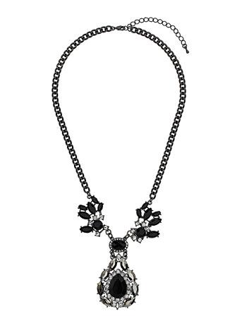 Evans Black Teardrop Collar Necklace     Price: £18.50 click to visit Evans