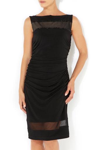 Black Mesh Detail Dress     Price: £60.00 click to visit Wallis