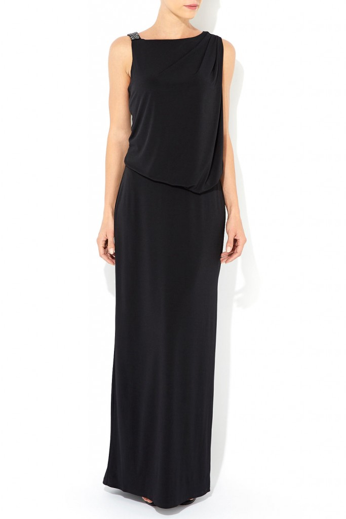 Black Embellished Shoulder Maxi Dress Was £90.00 Now £72.00 click to visit Wallis