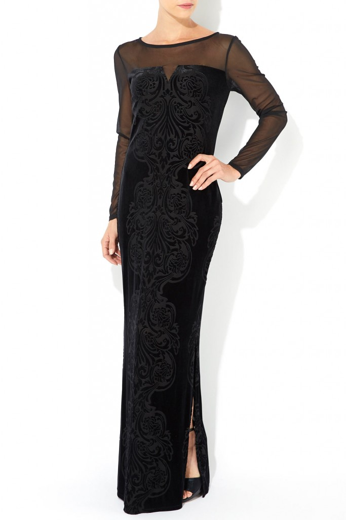 Black Sheer Sleeve Maxi Dress     Price: £65.00 click to visit Wallis