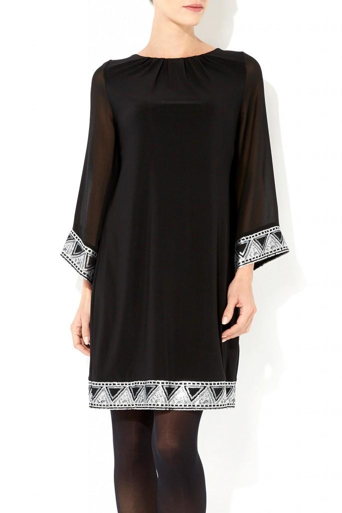 Black Aztec Embellished Dress Was £40.00 Now £32.00 click to visit Wallis