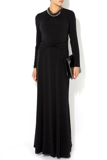 Black Long Sleeve Maxi Dress     Was £60.00     Now £48.00 click to visit Wallis