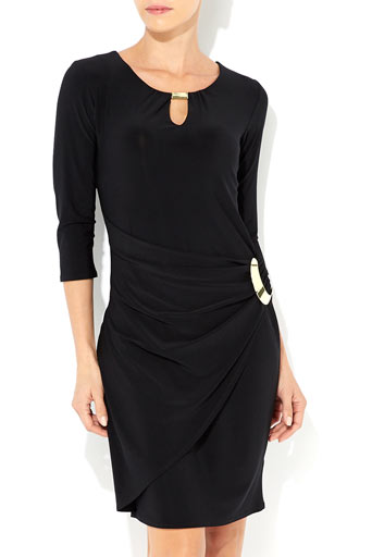 Black 3/4 Sleeve Dress     Was £35.00     Now £28.00 click to visit Wallis
