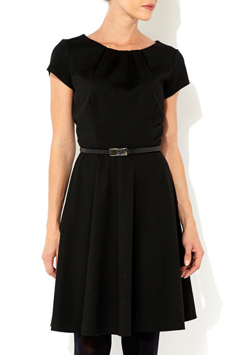 Black Fit and Flare Dress Price: £35.00 click to visit Wallis