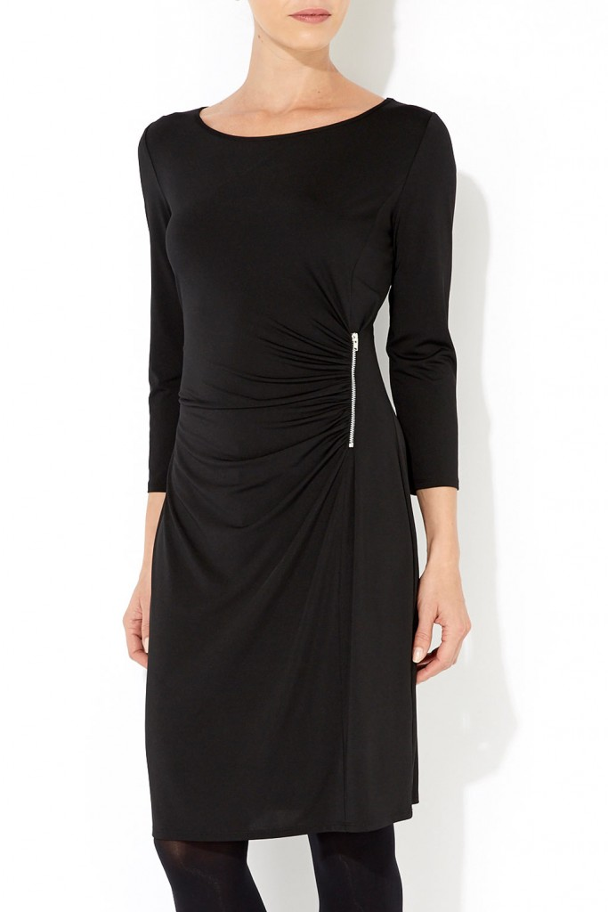 Black Side Zip Dress Was £35.00 Now £28.00 click to visit Wallis