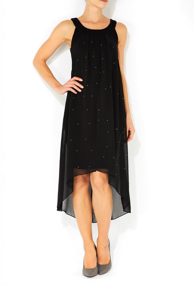 Black Diamonte High Low Dress     Price: £48.00 click to visit Wallis