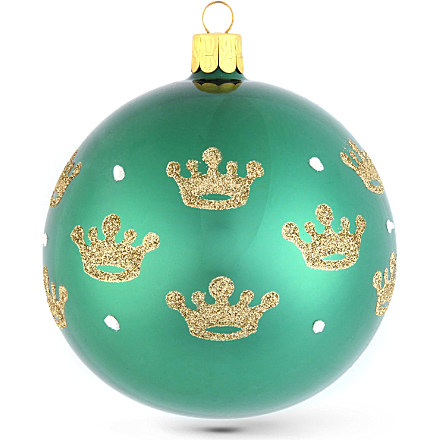 CHRISTMAS Crown glass bauble 10cm £6.50 click to visit Selfridges