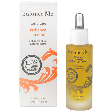 Balance Me Radiance face oil 30ml £30 click to visit Debenhams