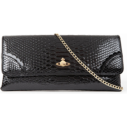 VIVIENNE WESTWOOD Frilly Snake patent chain clutch £160 click to visit Selfridges