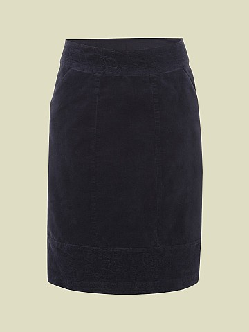 SUMMERS END KNEE VELVET SKIRT £47.50 click to visit White Stuff
