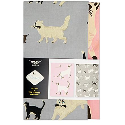 CUBIC Set of two Duchess tea towels £15.95