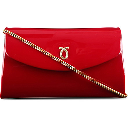LAUNER High Society patent leather clutch £480 click to visit Selfridges