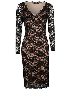 Moda Lace Bodycon Dress £20.00 click to visit George at Asda