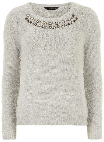 Tall grey fluffy jumper     Price: £32.00 click to visit Dorothy Perkins