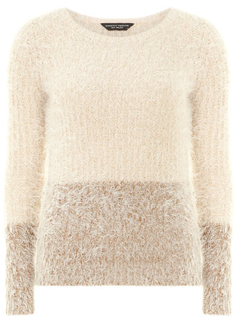 Blush ombre fluffy jumper     Price: £29.00 click to visit Dorothy Perkins