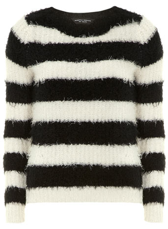 Black/white fluffy jumper     Price: £29.00 click to visit Dorothy Perkins