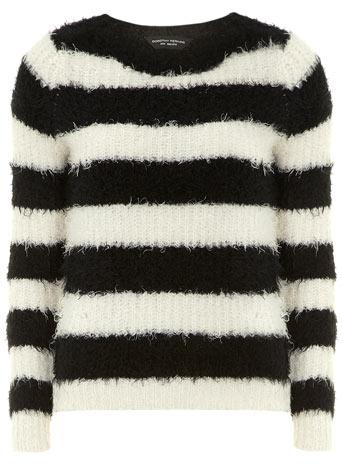 Black/white fluffy jumper     Price: £29.00 click to visit Dorothy Perkins
