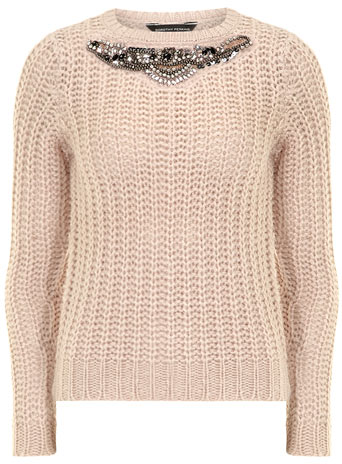 Blush embellished jumper     Price: £29.00 click to visit Dorothy Perkins