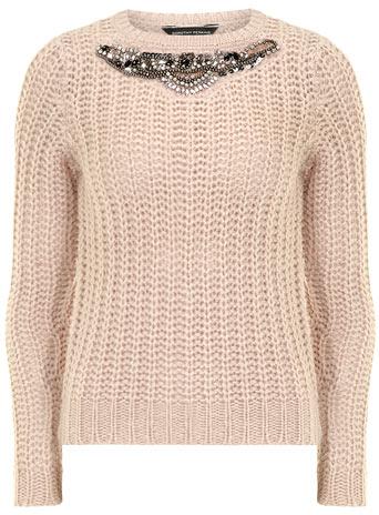 Blush embellished jumper     Price: £29.00 click to visit Dorothy Perkins