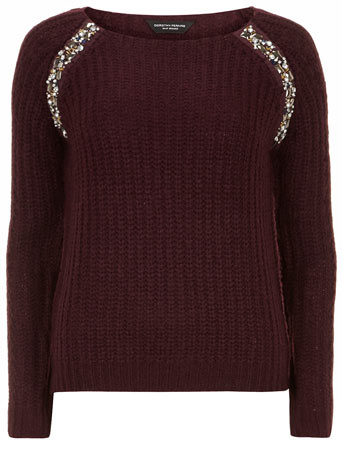 Berry embellished raglan jumper     Price: £29.00 click to visit Dorothy Perkins