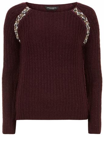 Berry embellished raglan jumper     Price: £29.00 click to visit Dorothy Perkins