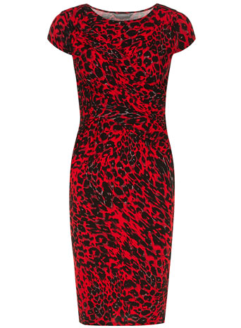 Petite red animal drape dress     Was £25.00     Now £20.00 click to visit Dorothy Perkins