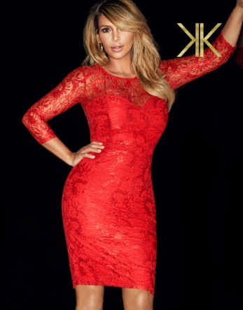 Kardashian All Over Lace Midi Dress £65.00 click to visit Lipsy