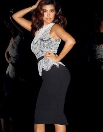 Kardashian Lace Top Peplum Dress £75.00 click to visit Lipsy