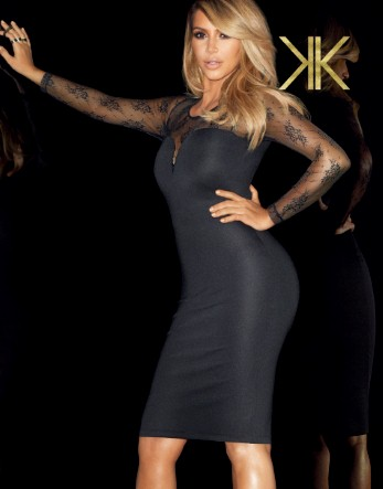 Kardashian Lace Yoke Shift Dress £55.00 click to visit Lipsy